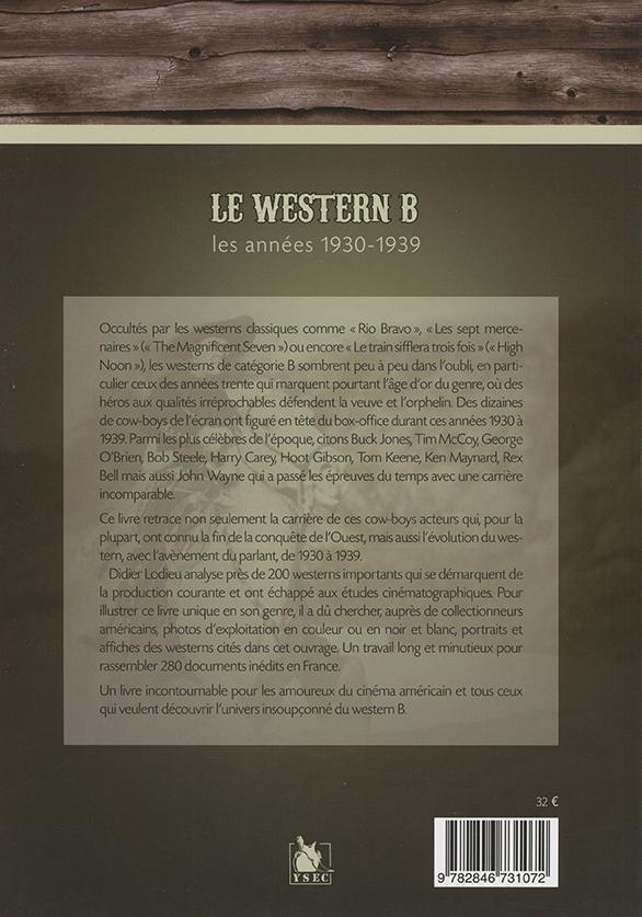Le Western de série B de 1930 à 1939 4è de couverture