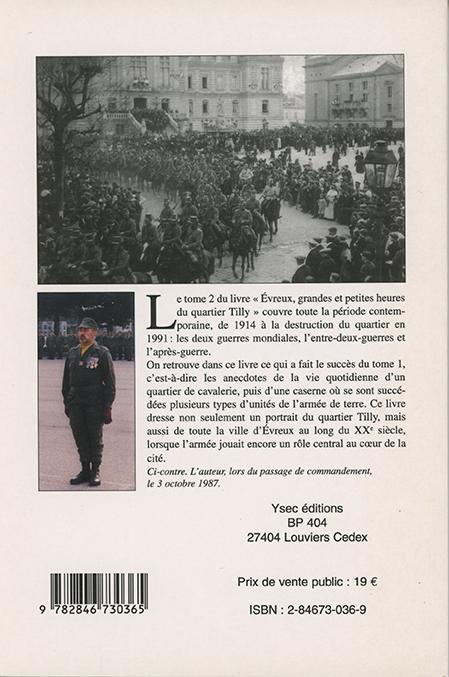Jean-Louis Martin - Évreux, grandes et petites heures du quartier Tilly tome 2 4è de couverture