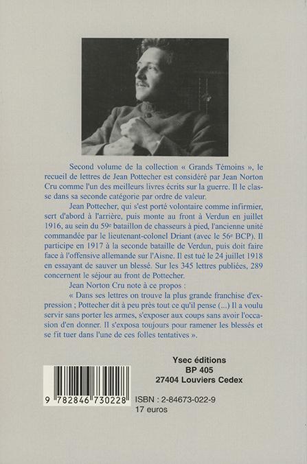 Lettres du front de l'infirmier Jean Pottecher - 4e de couverture