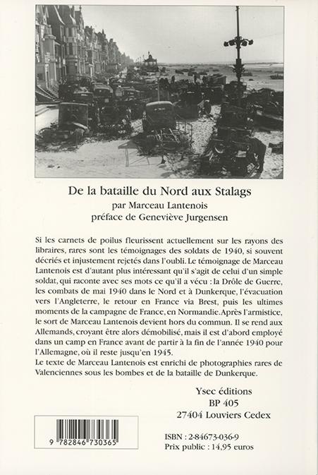 témoignage de guerre de Marceau Lantenois - 4e de couverture
