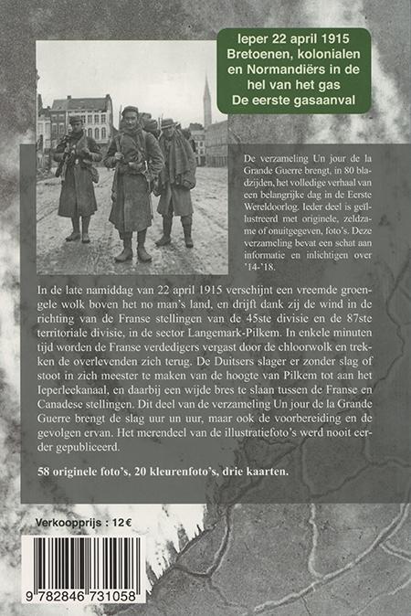 Ieper, 22 april 1915, de eerste gasaanval - 4e de couverture