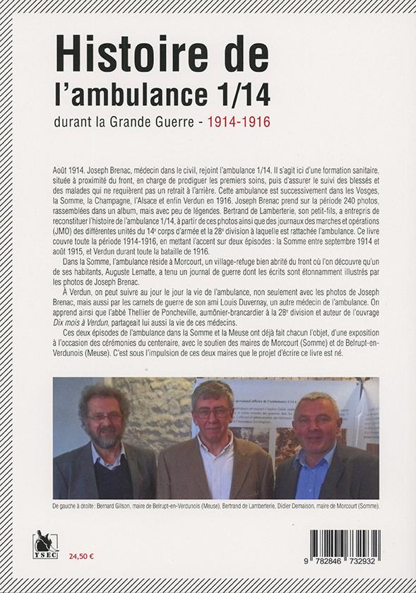 Histoire de l'ambulance 1/14 - 4e de couverture