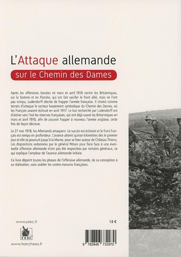 L'attaque allemande sur le Chemin des Dames - 4e de couverture