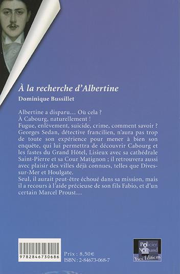 À la recherche d'Albertine - 4e de couverture