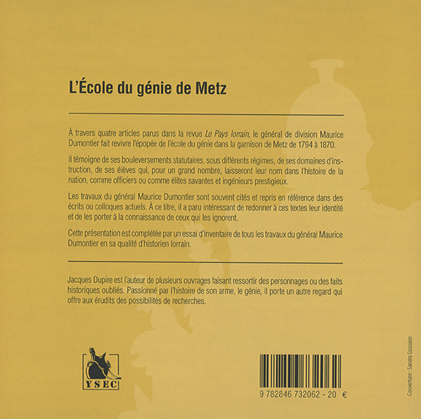 L'École du génie de Metz - 4e de couverture