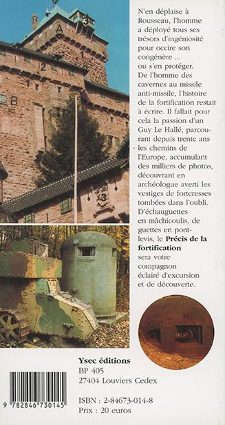 Précis de la fortification - 4e de couverture