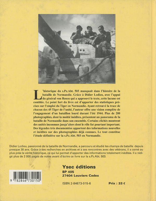 45 Tiger en Normandie - 4e de couverture