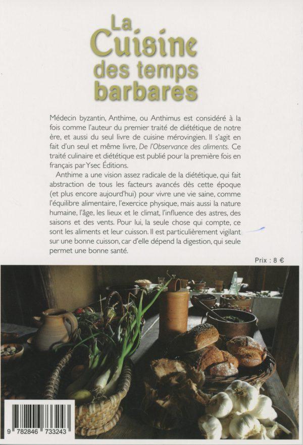 La Cuisine des temps barbares - 4e de couverture