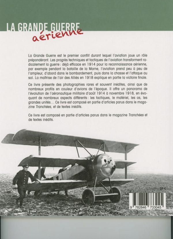 La Grande Guerre aérienne - 4e de couverture