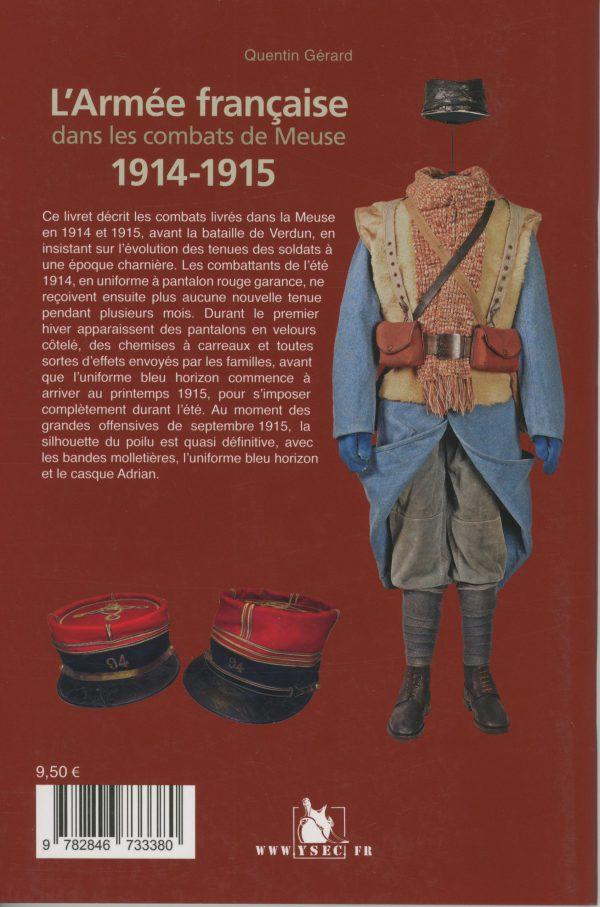 L'Armée française dans les combats de Meuse 1914-1915 - 4e de couverture