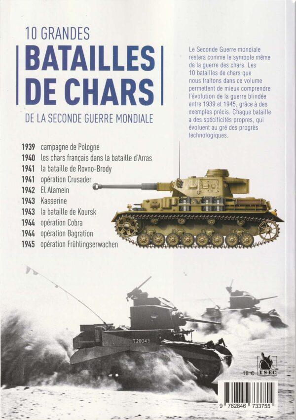 Dix grandes batailles de chars de la seconde guerre mondiale - 4è de couverture