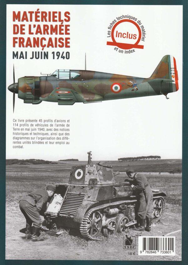 Materiels de l'armee francaise mai juin 1940 - 4è de couverture