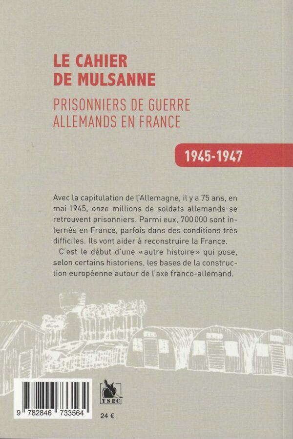 Prisonniers de guerre allemands en France - 4è de couverture