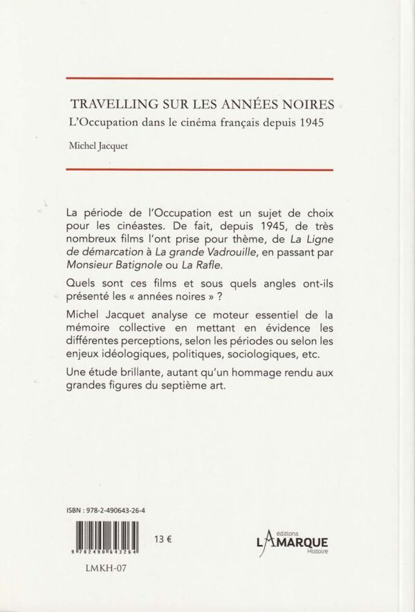 L'Occupation dans le cinéma français depuis 1945 - 4è de couverture