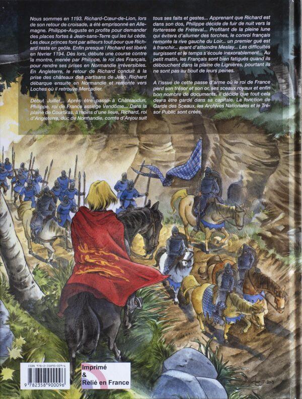 L'affrontement de Fréteval entre Philippe-Auguste et Richard Cœur de lion - 4è de couverture